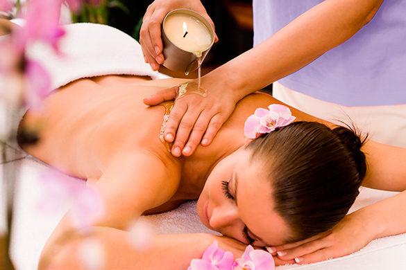 Massagem Velas Quentes e Aromaterapia